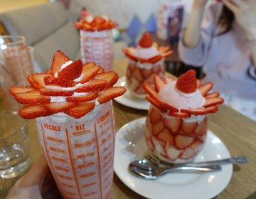 【カフェドペルのかわいいいちごスイーツたち♡】西早稲田・高田馬場駅周辺のおすすめカフェです