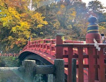 秋の日光おすすめ♡紅葉x二荒山神社の神橋が綺麗♡世界遺産のあとは湯葉蕎麦