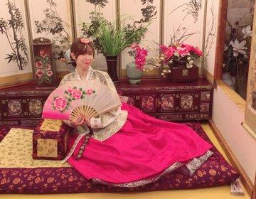 韓国ソウルの明洞で韓服が着たいが叶う!室内だから天気も気温も気にしなくていい
