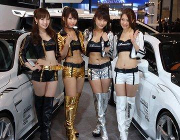 東京オートサロン2016 レースクイーン・コンパニオンだらけのカスタムカーの展示会!オフショットも☆