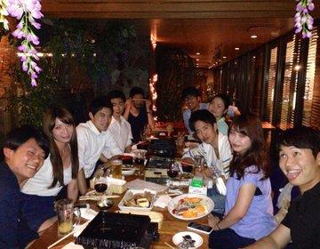 秋の都心BBQ♪渋谷美食米門のビアガーデンテラスBBQは飲放題付¥4,500!サプライズにも◎