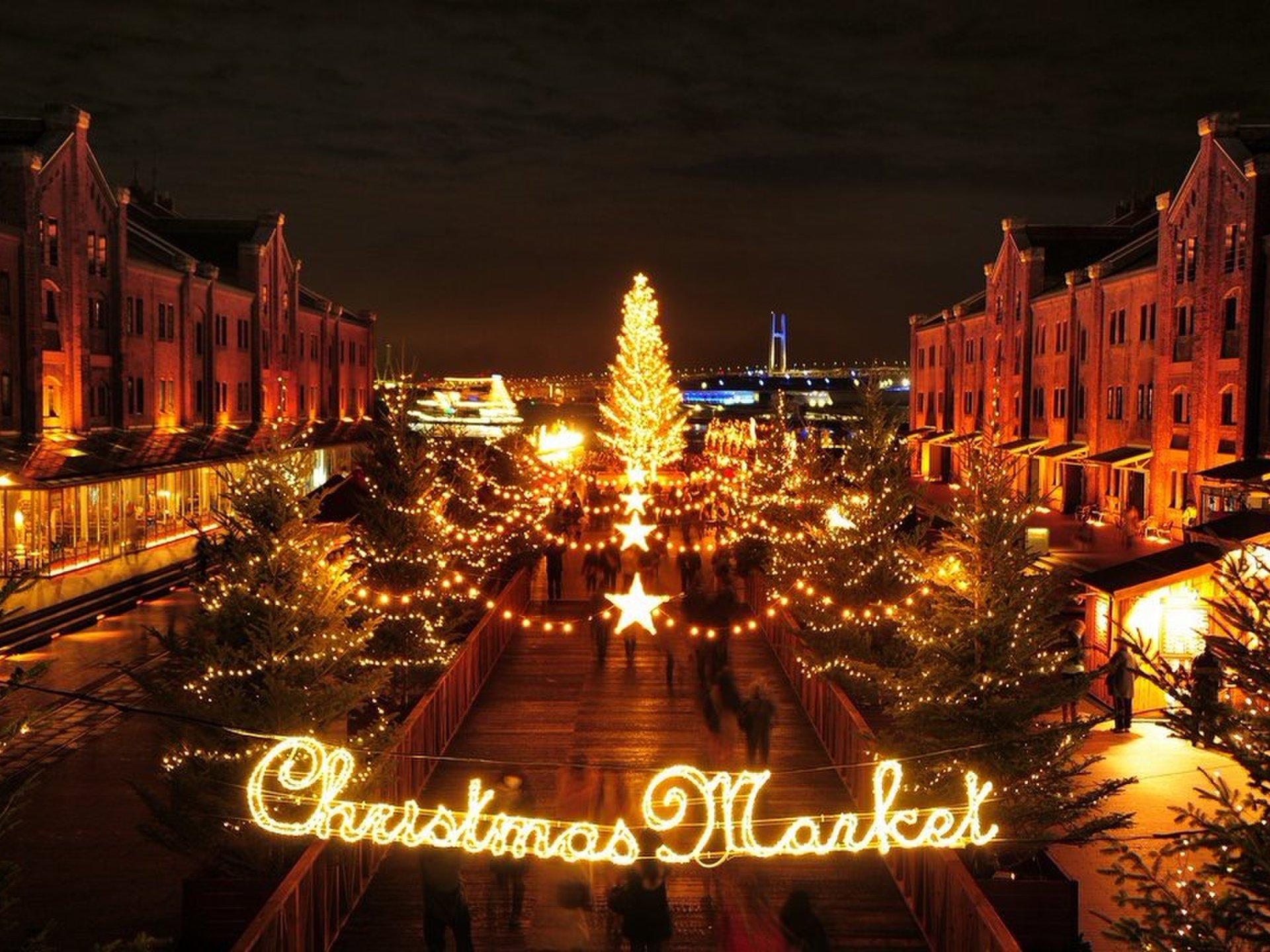 【イルミネーション×横浜】寒い日の夜は横浜赤レンガのクリスマスマーケットでほっこりデート♡