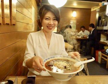 歌舞伎町の先生と行くシメの一杯、ラーメン利しりは飲んだ後の激辛ラーメン、歌舞伎町おすすめラーメン