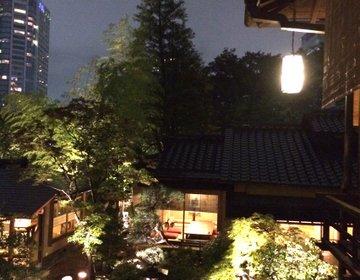 ここは本当に東京か!?江戸が息づく日本庭園を眼下に芝うかいで完全プライベート個室ディナー