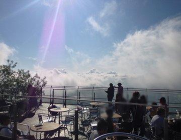 【トマム】憧れの雲海テラスで、雲海と山々の絶景を楽しむ♪雲を眺めて、てんぼうかふぇでコーヒーを♪