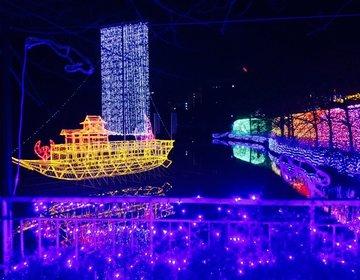 【大阪の天王寺公園のイルミネーションが凄すぎる】〆はお洒落な個室イタリアンで最高のクリスマスデート♪