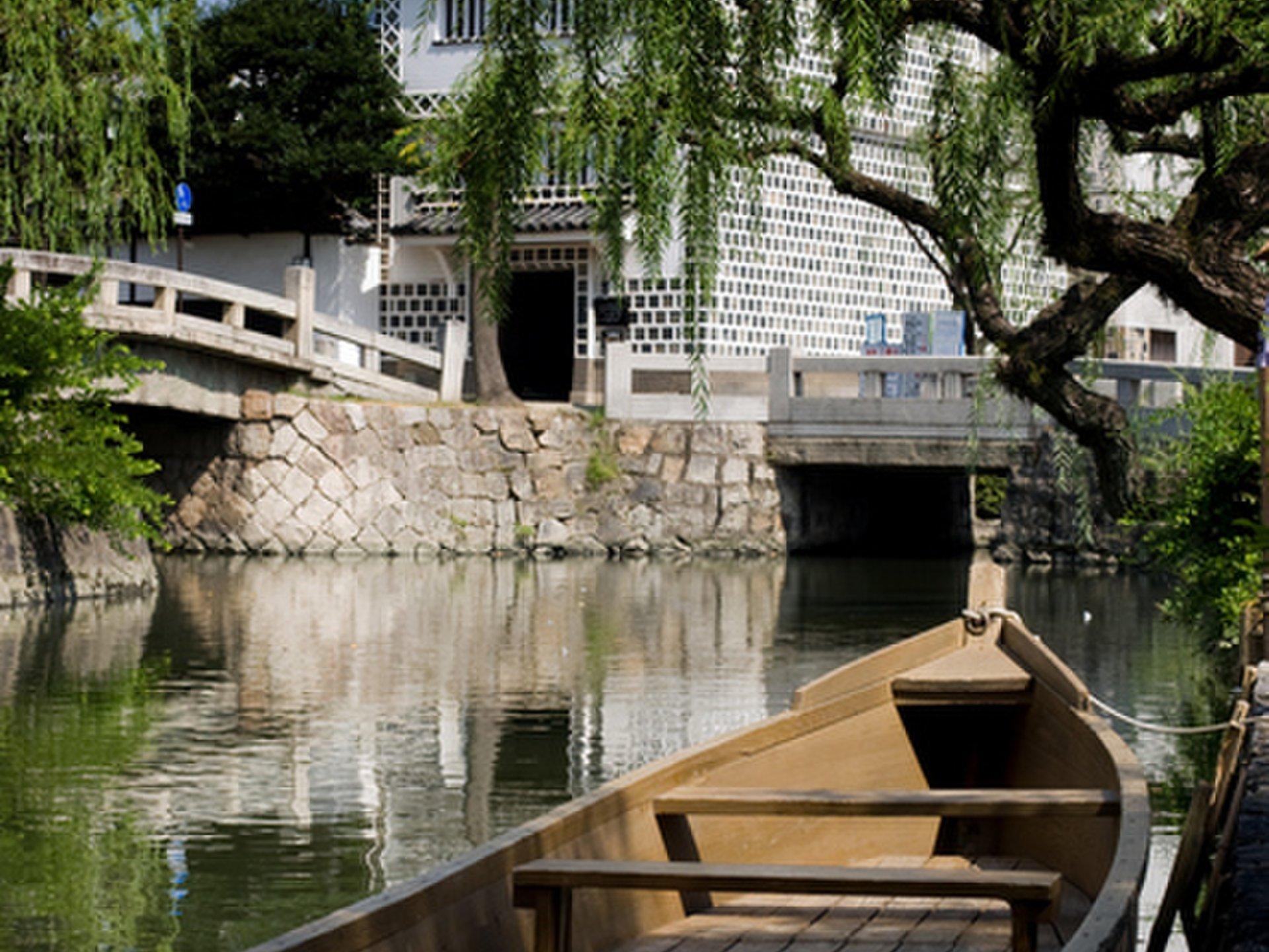 倉敷 坂本龍馬ゆかりの宿に泊まり、趣ある町並みを舟流しで楽しむ!【みやけ亭、吉井旅館、大原美術館】