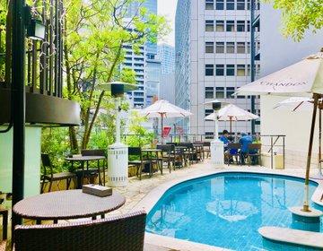 まるで海外リゾートなおしゃれテラスでパスタランチ!渋谷の347カフェで優雅な時間を過ごそう!