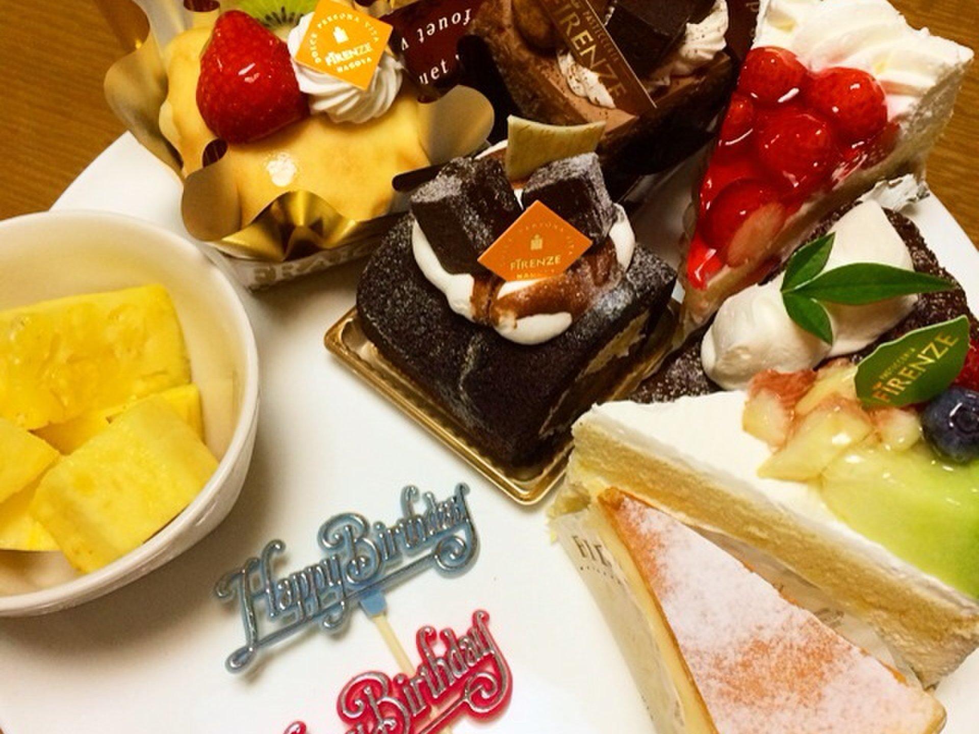 名古屋にある絶品ケーキ屋さん【フィレンツェのケーキをオシャレに盛り付け】妹の誕生日会