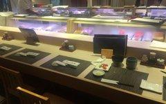 Edo front surprised sushi Ebisu store