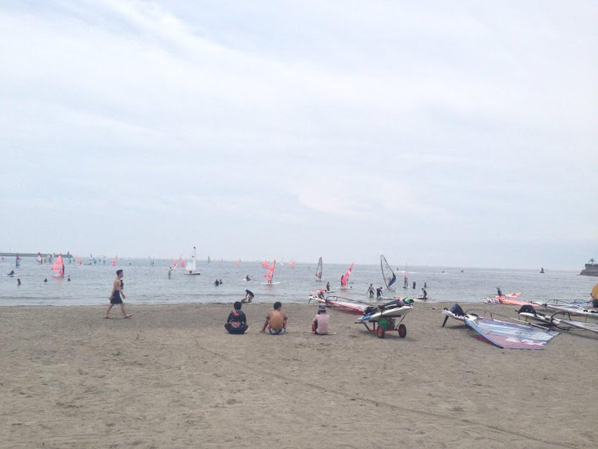 夏の海水浴場!今年の海は逗子の海水浴場があつい!混まなくて静かでのんびり過ごせる!