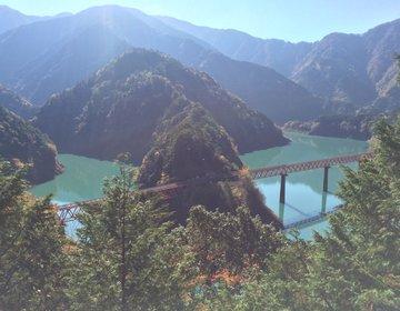 列車は片道1日5本!湖に浮かぶ秘境駅「奥大井湖上駅」の紅葉に癒される!秋冬の女子一人旅プラン