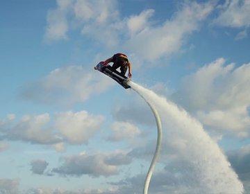 爽快!山中湖で空飛ぶボード、ホバーボード♡アウトドアプラン!