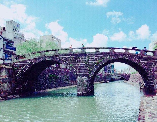 眼鏡橋付近 ハートストーン