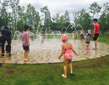 【子供の夏休み】親子で無料で一日遊べる品川ウォーターテラスでおしゃれな水浴び
