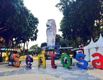 シンガポール・セントーサ島で1日観光!東南アジアで1番長いプールに行ってみた♡