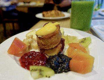 【銀座・自家製ジャムがてんこ盛りフレンチトースト】モーニングビュッフェを堪能