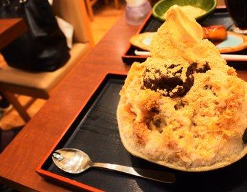 【大阪名物】和カフェといったらここは外せない!季節限定の黄金のかき氷は別格だった!