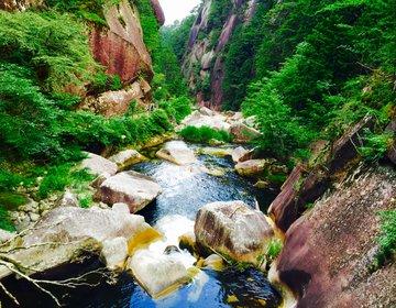 【マイナスイオンを求めて甲府奥地の渓谷へ!】奇岩・岩山の絶景が連続する昇仙峡でハイキングを楽しむ!