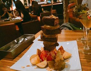 女の子が絶対喜ぶ!肉タワーが話題のカフェバーで大人なデートを。【心斎橋】