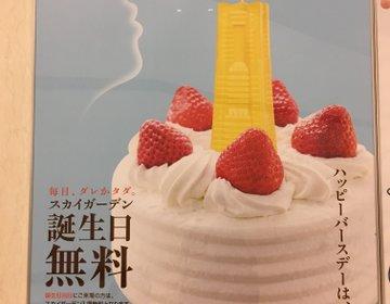 ランドマークタワースカイガーデンは誕生日当日無料で入館できる‼︎