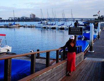 サンディエゴ【お洒落なリゾートホテル】オーシャンビューレストランでディナー!パラダイスポイント
