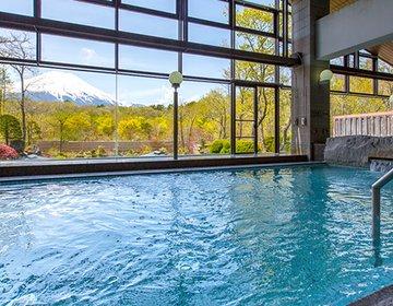 『山中湖』へ日帰り温泉旅行!おすすめの温泉施設2選【紅富士の湯・石割の湯】
